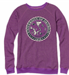 Ladies Snowflake Terry Crew - Dragonfruit