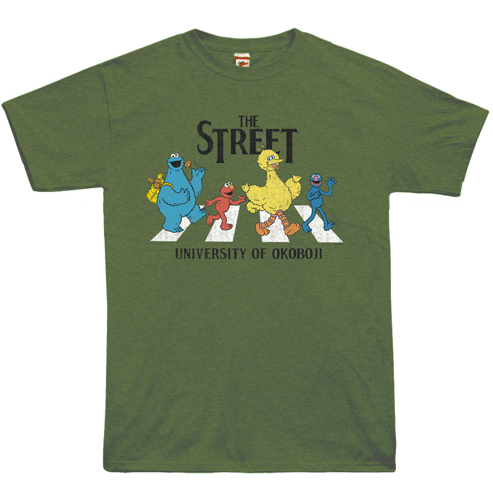 University of Okoboji - The Street Tee - Heather Army Green