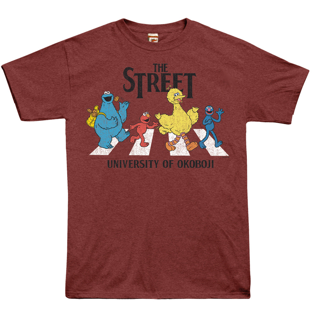 University of Okoboji - The Street Tee - Heathered Burgundy