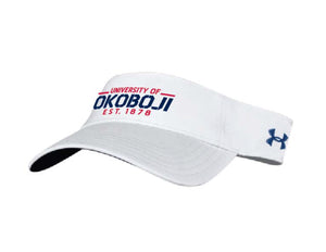 White University of Okoboji Visor
