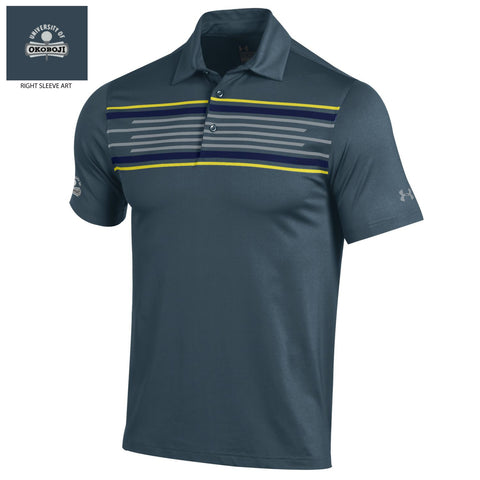 Men's Dark Gray Under Armour Golf coldblack® Polo