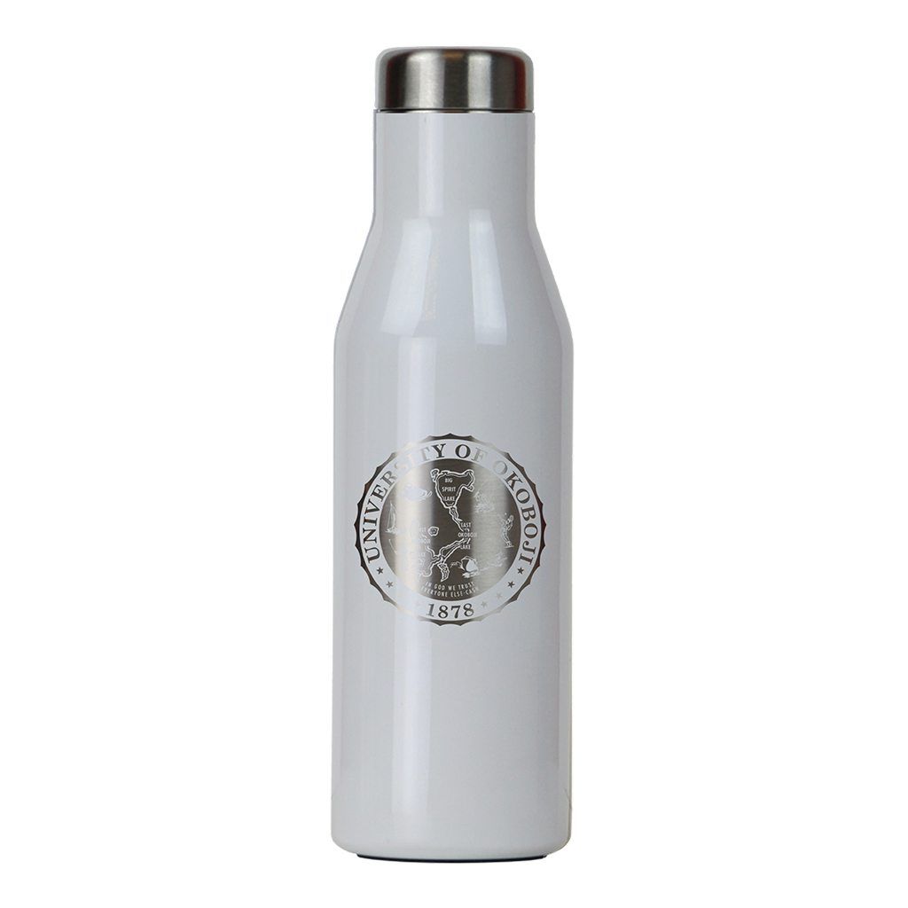THE ASPEN - U OF OKOBOJI - INSULATED STAINLESS STEEL BOTTLE - 16 FL OZ - White Pearl