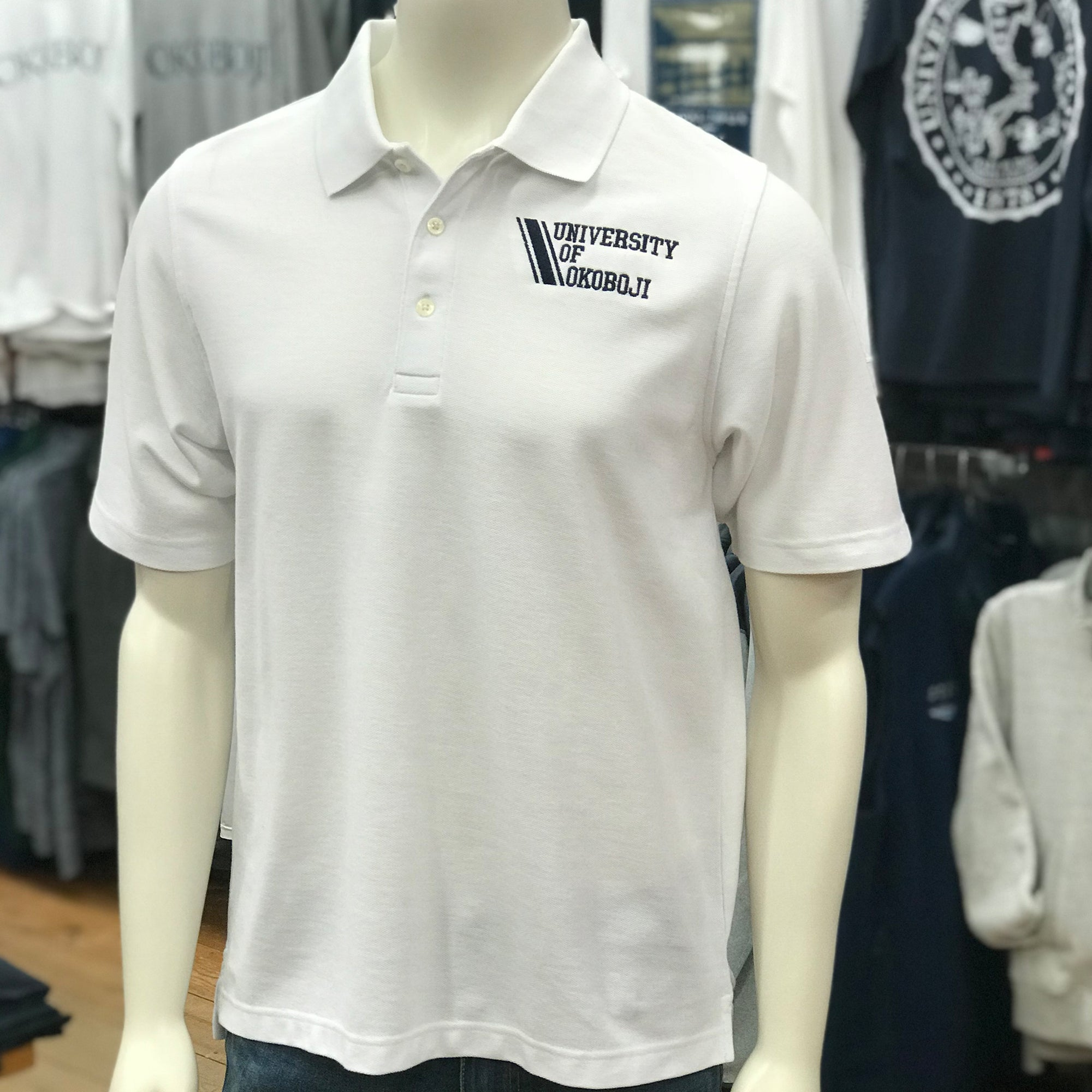 The Corporate Logo Polo - White