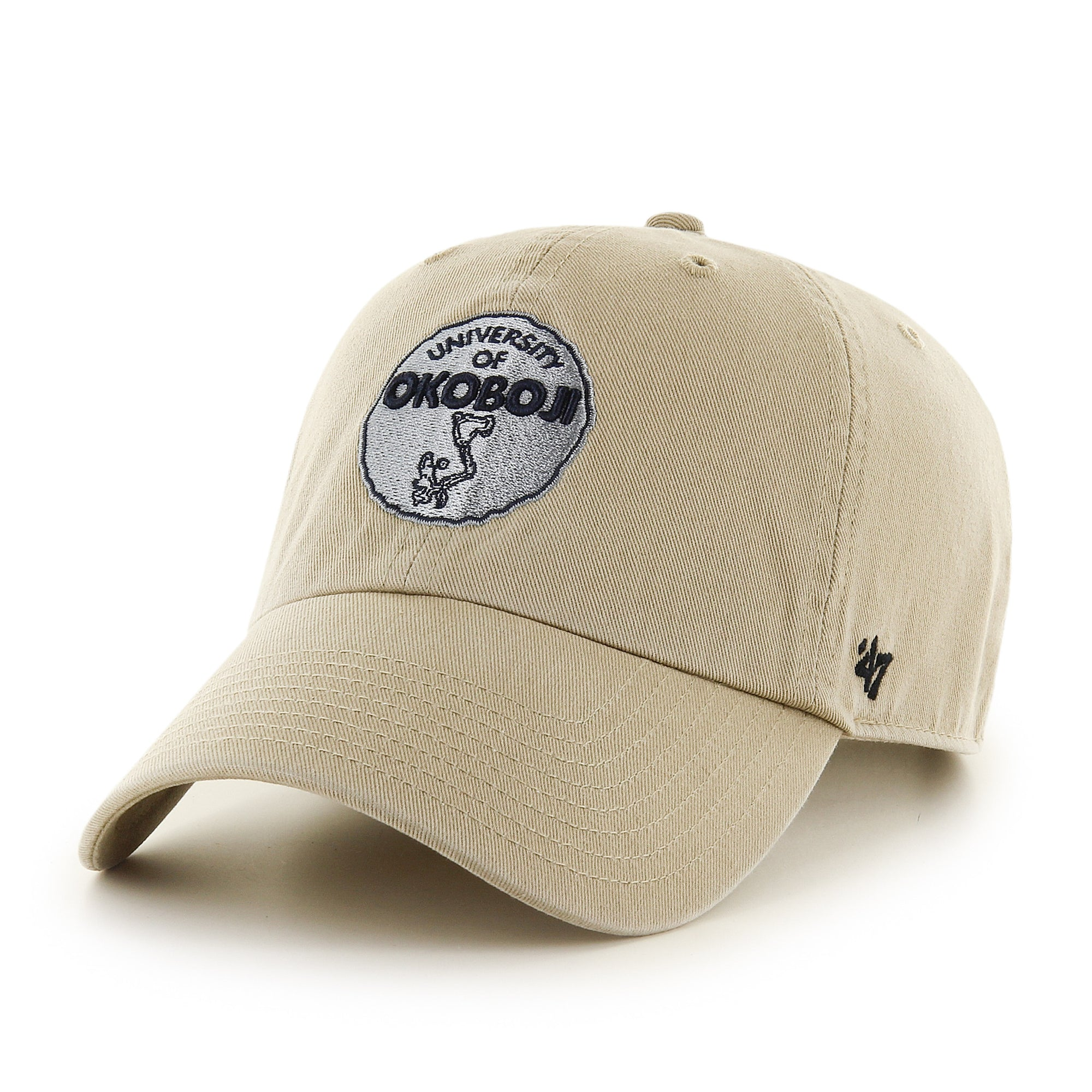 University of Okoboji '47 Khaki Clean Up Cap