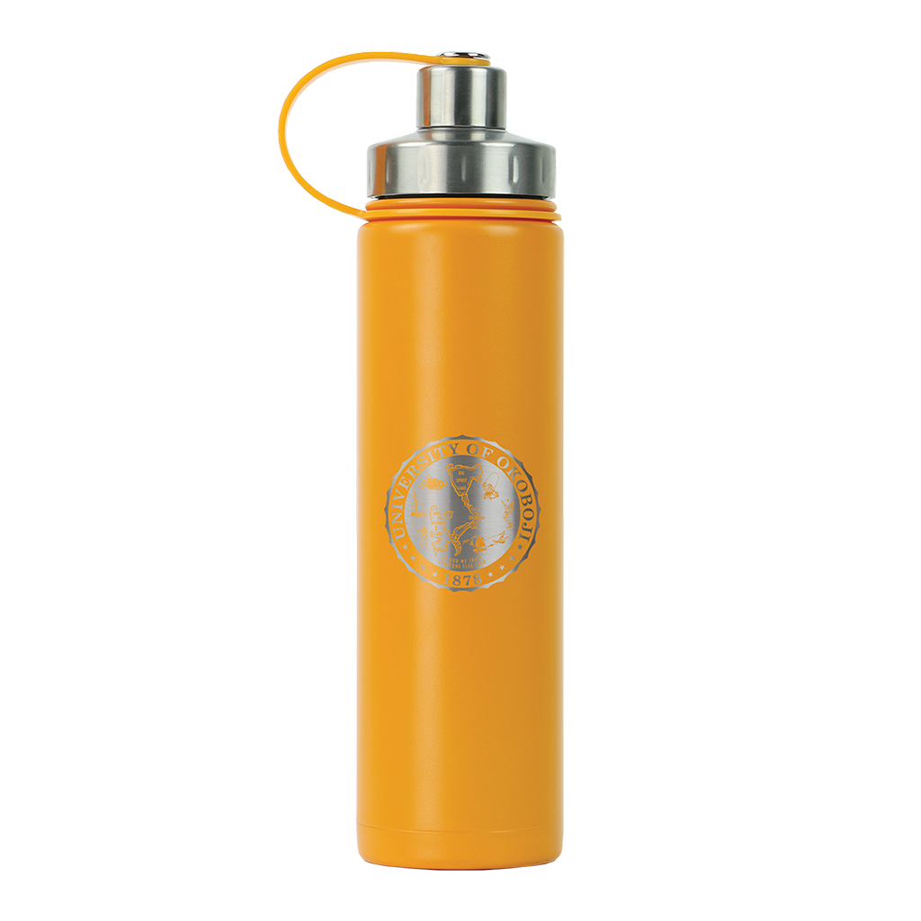 THE BOULDER - UNIVERSITY OF OKOBOJI - INSULATED WATER BOTTLE W/ STRAINER - 20 0Z - Mystic Mango