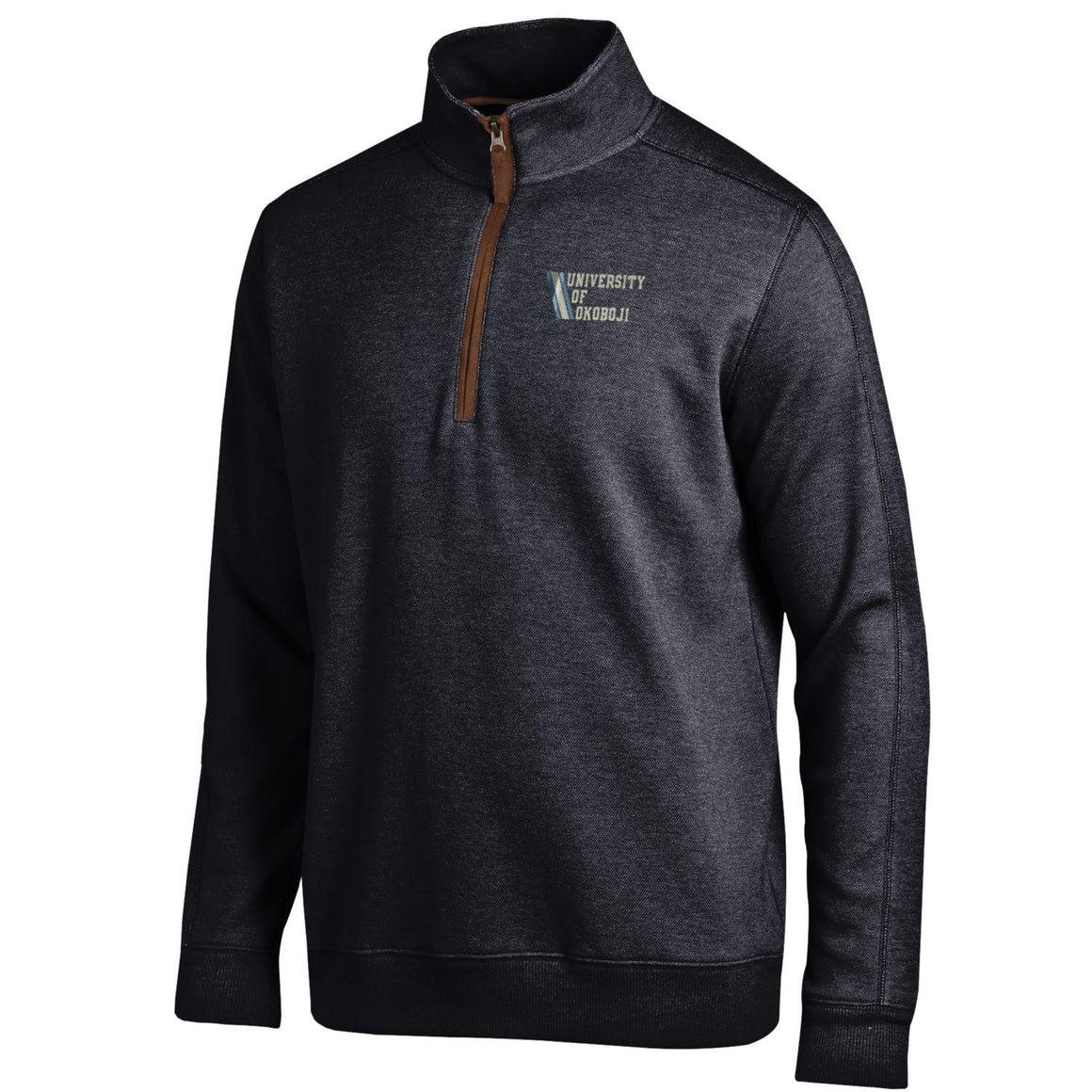University of Okoboji Admiral 1/4 Zip - Black