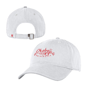 Women's White Adjustable Hat