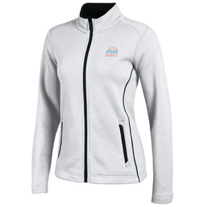 Ladies Deluxe Touch Full Zip-White
