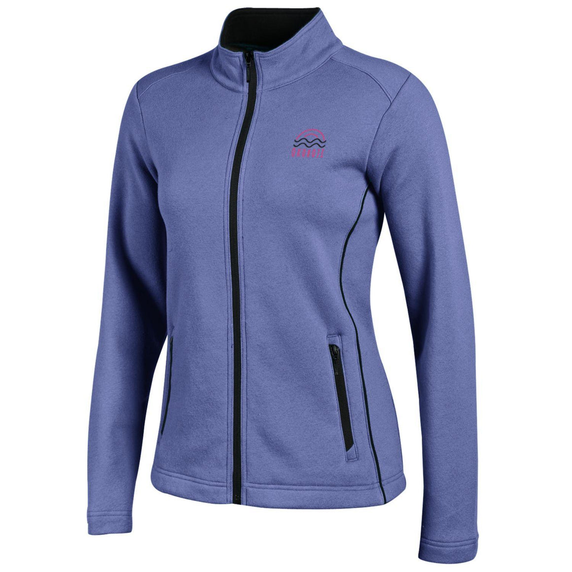 Ladies Deluxe Touch Full Zip-Frosty Lavender