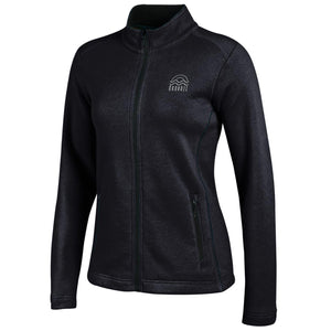 Ladies Deluxe Touch Full Zip-Black