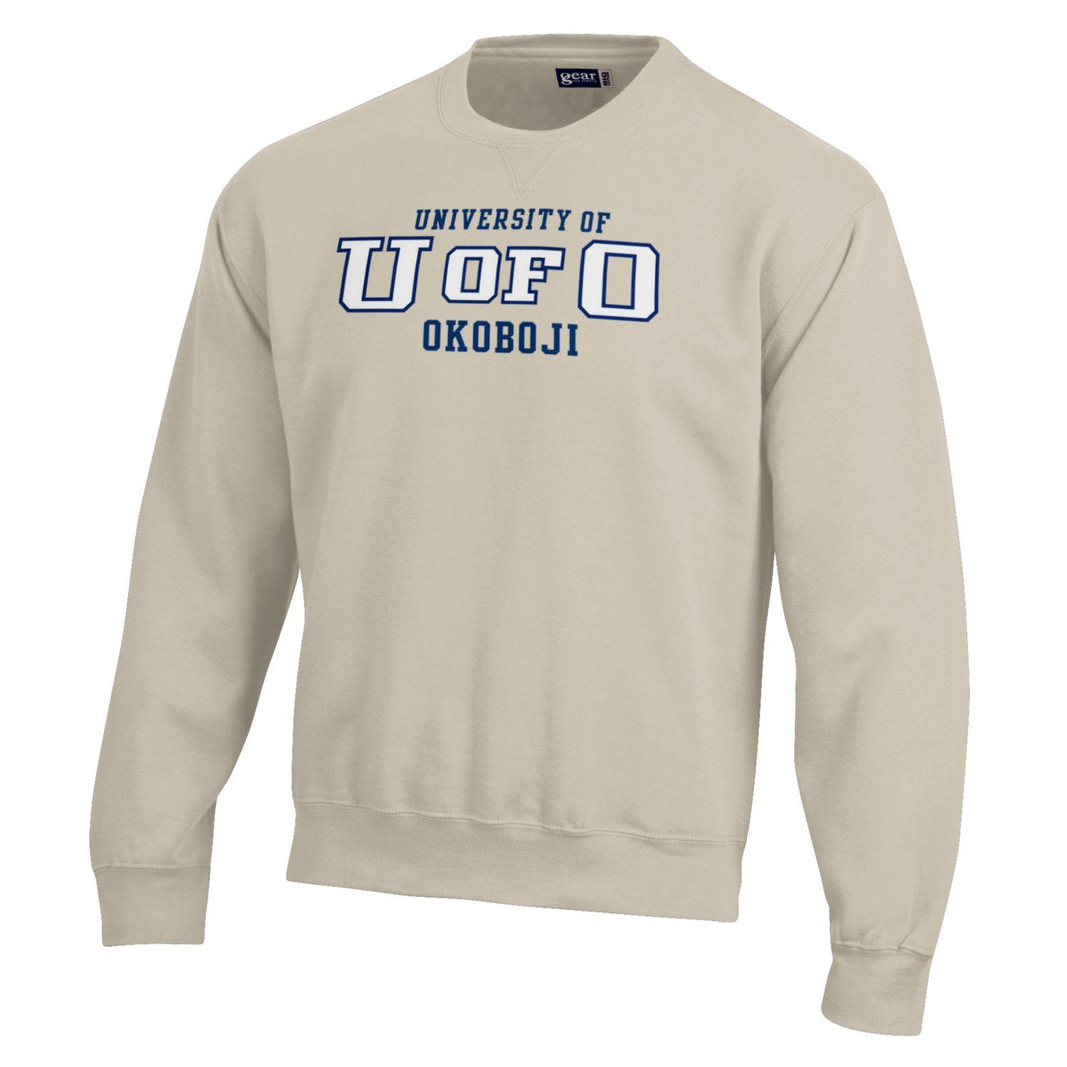 U of O - BIG Cotton Crew-Oatmeal Heather