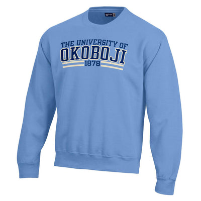BIG Cotton Tumbled Crew-Light Blue