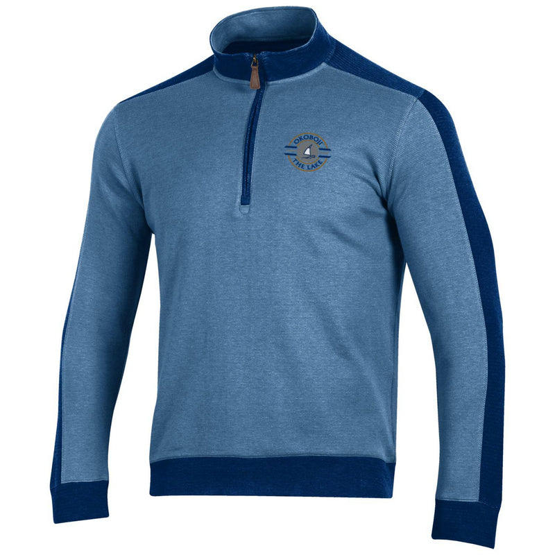 Okoboji Commander 1/4 Zip-G3142 190 Navy/Fog