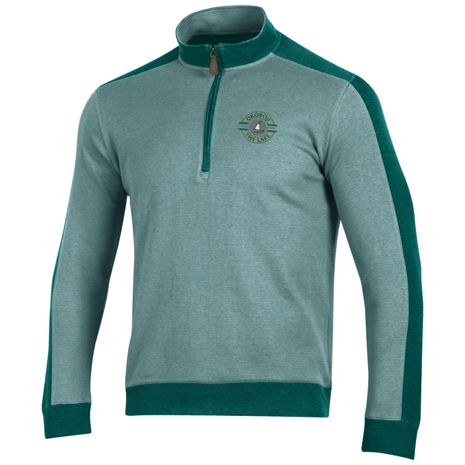 Okoboji Commander 1/4 Zip - Lakeside/Gallery Green