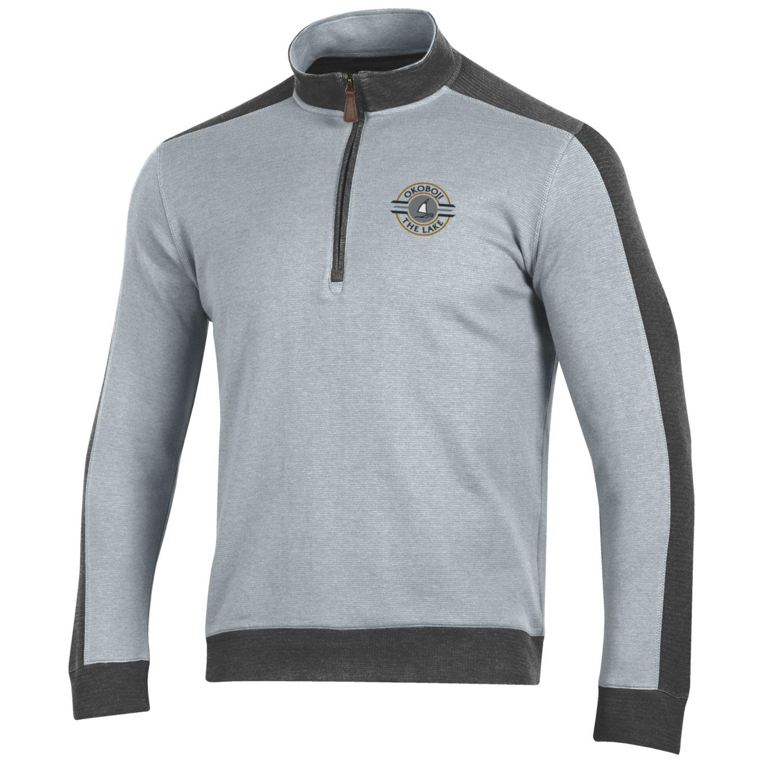 Okoboji Commander 1/4 Zip - Charcoal/Oxford Heather
