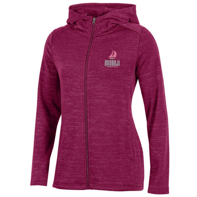 Women's Sail Okoboji Evolve Full Zip - Bordeaux