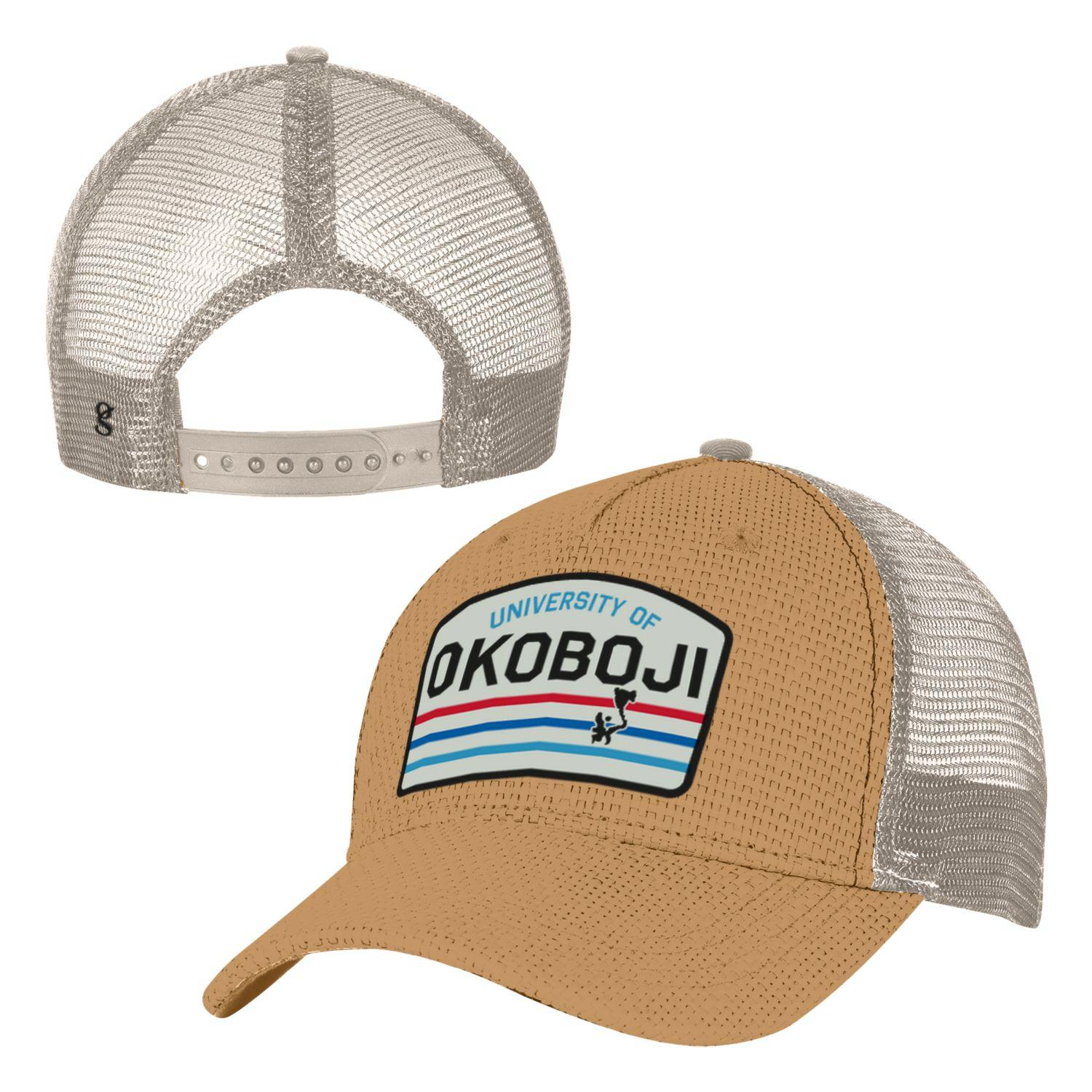 U of Okoboji Beach Trucker - Sand color