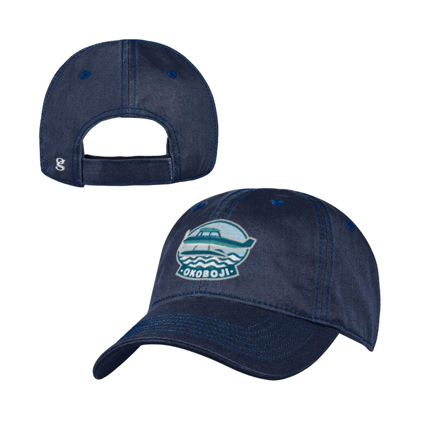 Okoboji Garment Washed Toddler Cap - Marine Navy