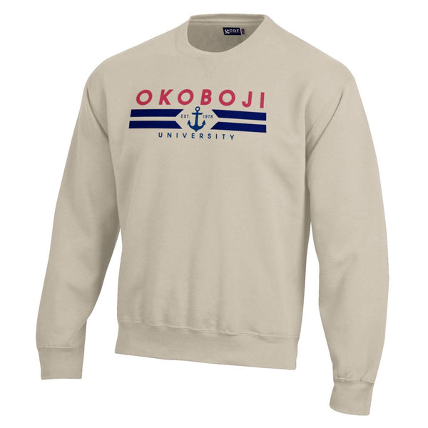 Okoboji BIG Cotton Crew - Oatmeal Heather