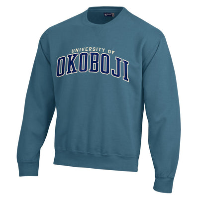 U of Okoboji BIG Cotton Tumbled Crew - Dungaree Blue