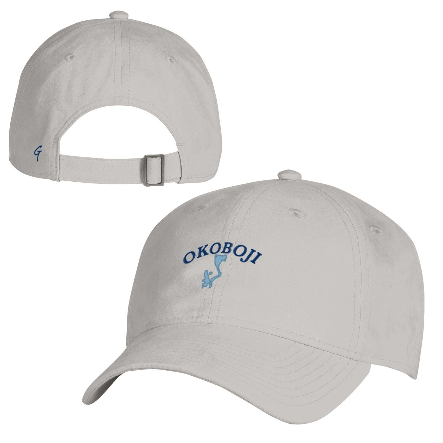 Blue Lakes Okoboji SUEDED CAP