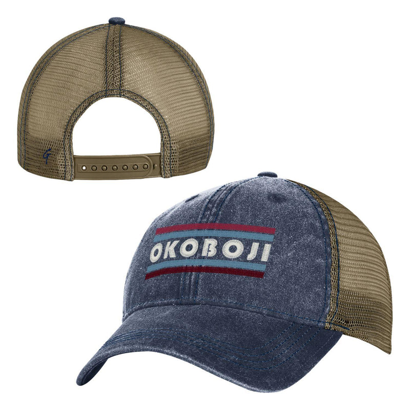 Okoboji - Pigment Dyed Trucker - Marine Navy color