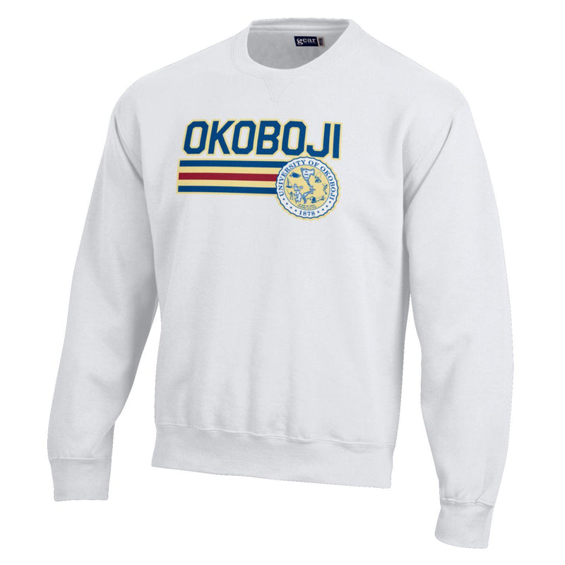 Okoboji U BIG Cotton Crew - White