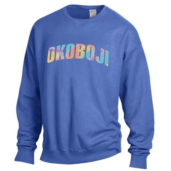 Color Blast Okoboji Garment Dyed Crew - Deep Forte Color