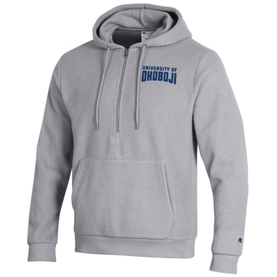 U of Okoboji Sherpa 1/4 Zip Hood - Active Grey