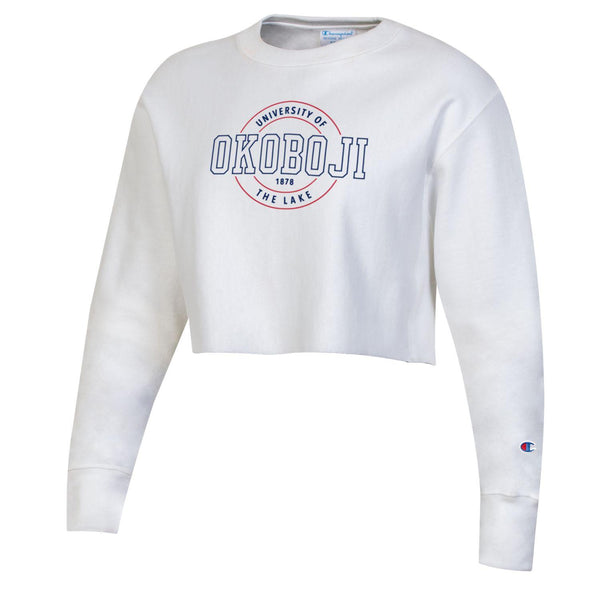 Women's Okoboji Cropped Crew - White