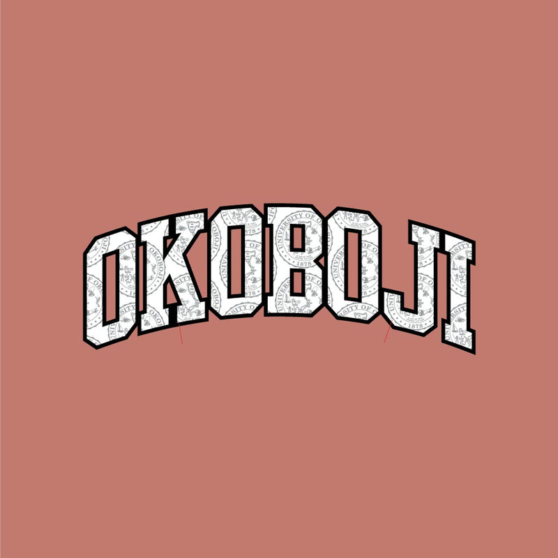 Okoboji CHAMPION Crest Letters ECO® POWERBLEND® Hood - Timeless Coral