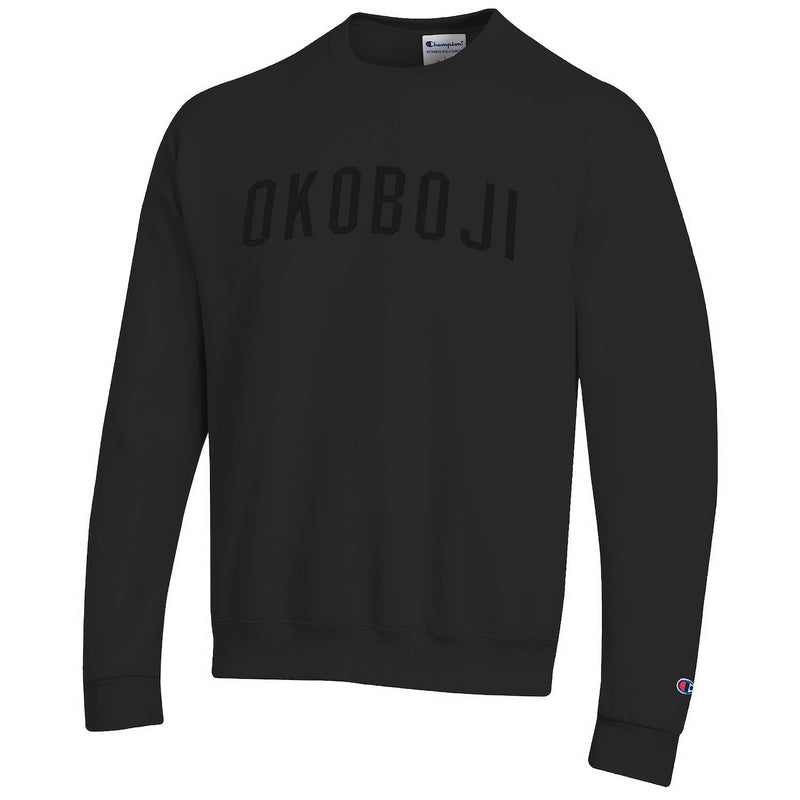 OKOBOJI Champion Eco® Fleece Crew - Black on 3D Black