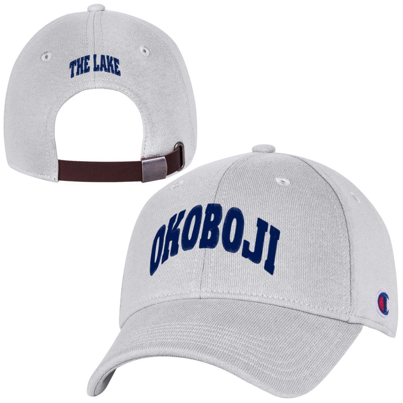 OKOBOJI - THE LAKE - Reverse Weave Cap - Silver Grey Heather
