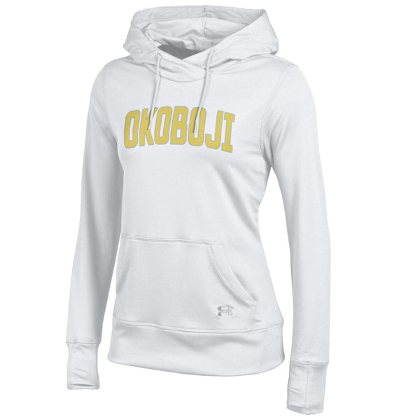 Ladies Reflective Okoboji Under Armour Hoodie - White
