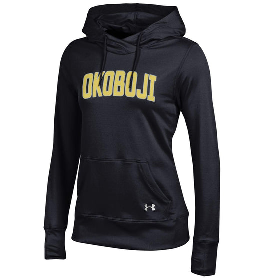 Ladies Reflective Okoboji Under Armour Hoodie - Black