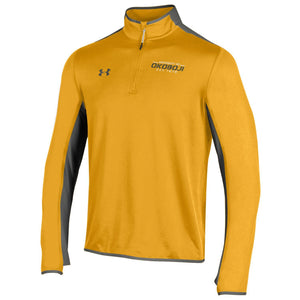 U of O Under Armour Survival 1/4 Zip - Steeltown Gold / Graphite