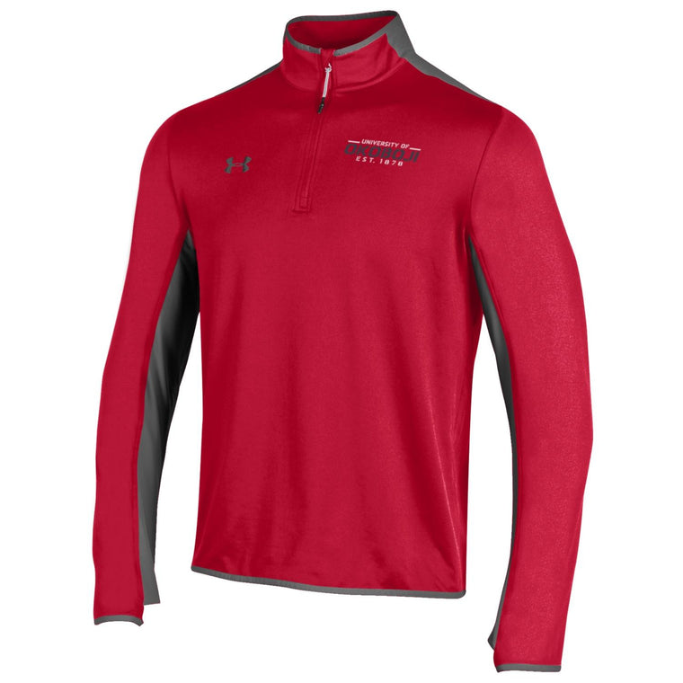 U of O Under Armour Survival 1/4 Zip - Red / Graphite