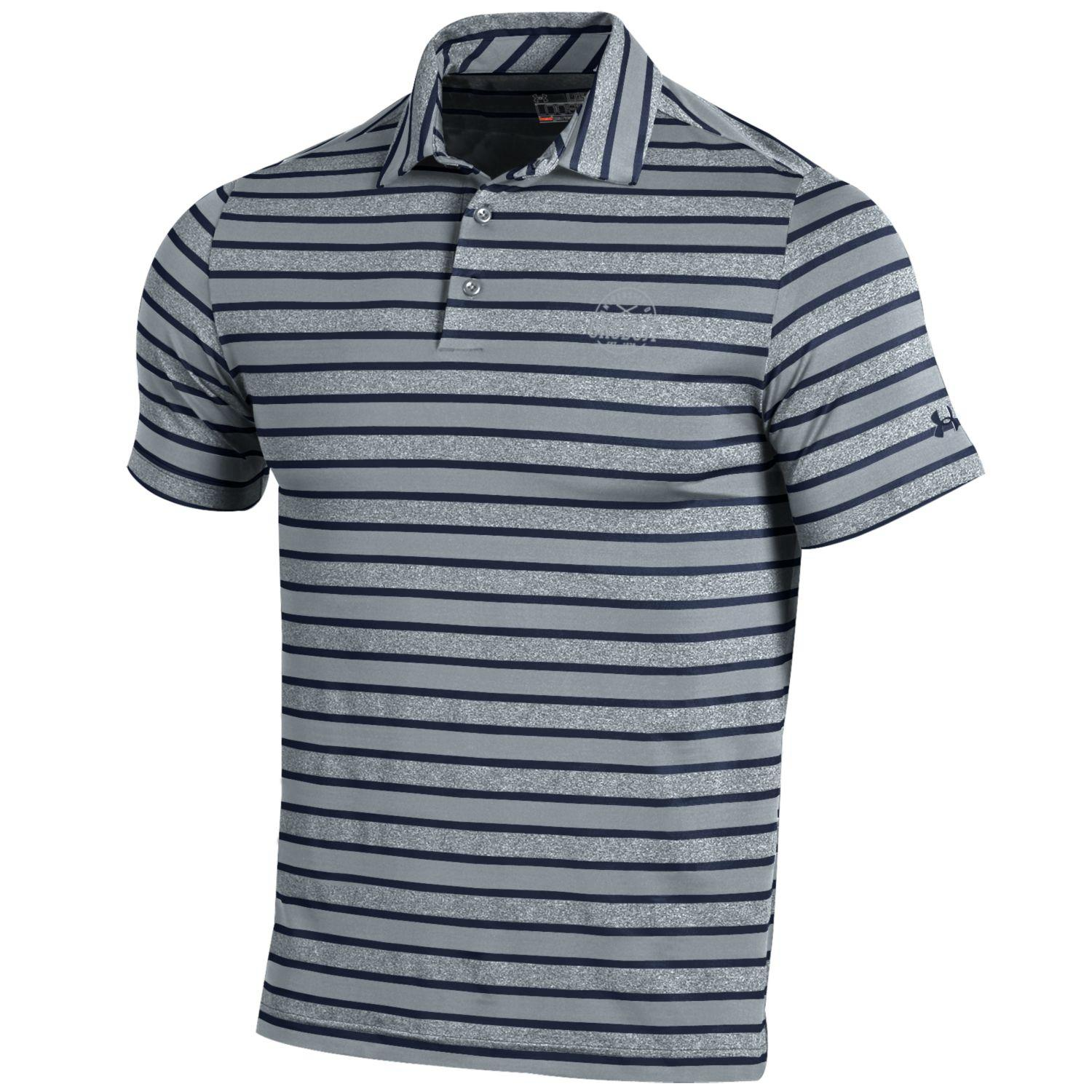 Men's Under Armour Golf Kinetic Stripe Polo - Midnight Navy