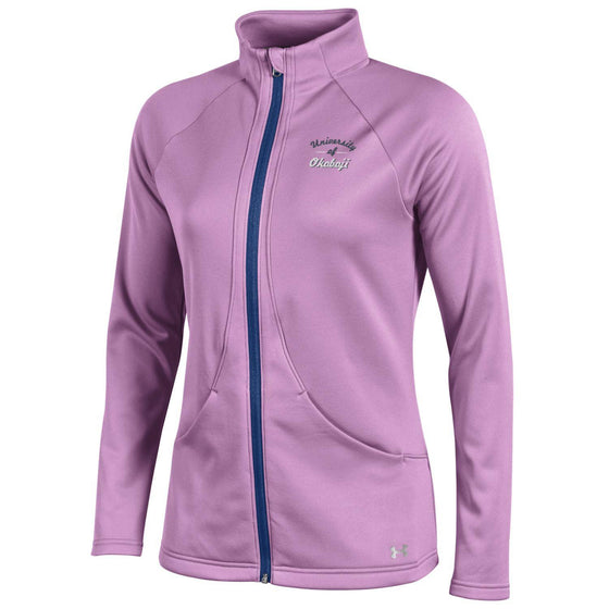 Ladies Under Armour Motivate Full Zip - Verve Violet