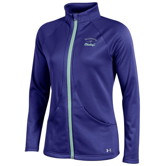 Ladies Under Armour Motivate Full Zip - Grape Fusion