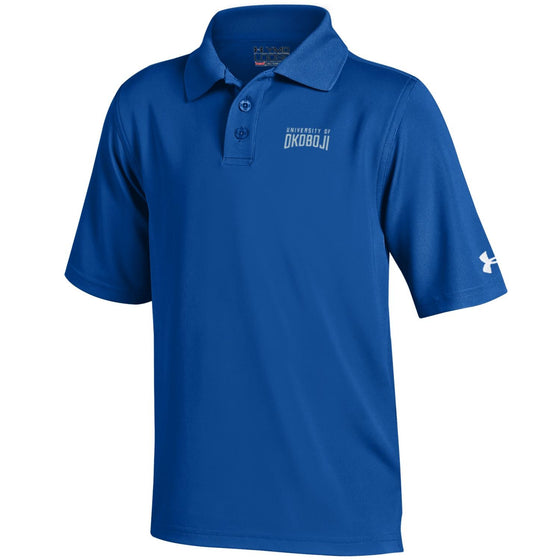 Youth Under Armour Polo Shirt-Royal Blue