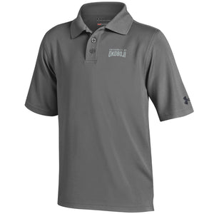 Youth Under Armour Polo Shirt-Gray
