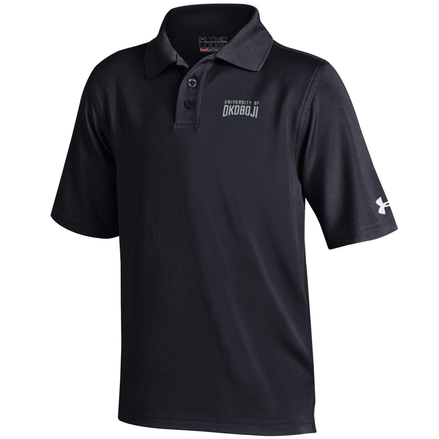 Youth Under Armour Polo Shirt-Black