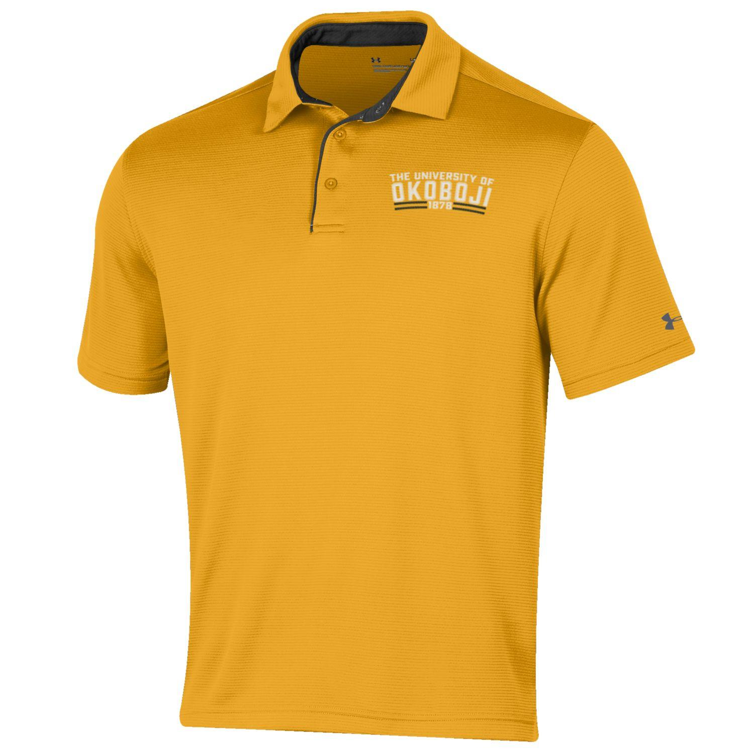 The UA U of O Tech Polo - Steeltown Gold