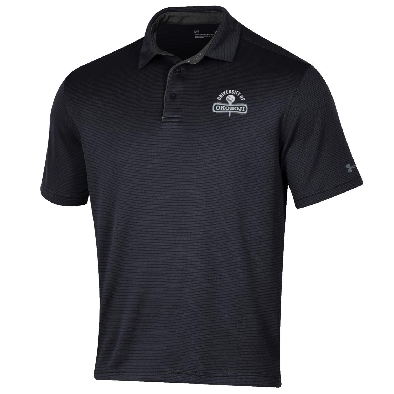 Okoboji Under Armour Tech Polo - Black