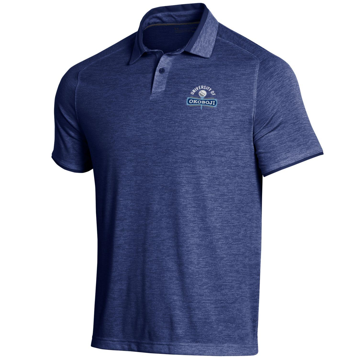 Okoboji Under Armour Streaker Polo - Academy Navy