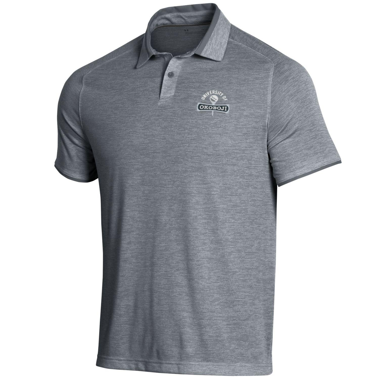 Okoboji Under Armour Streaker Polo - Pitch Grey