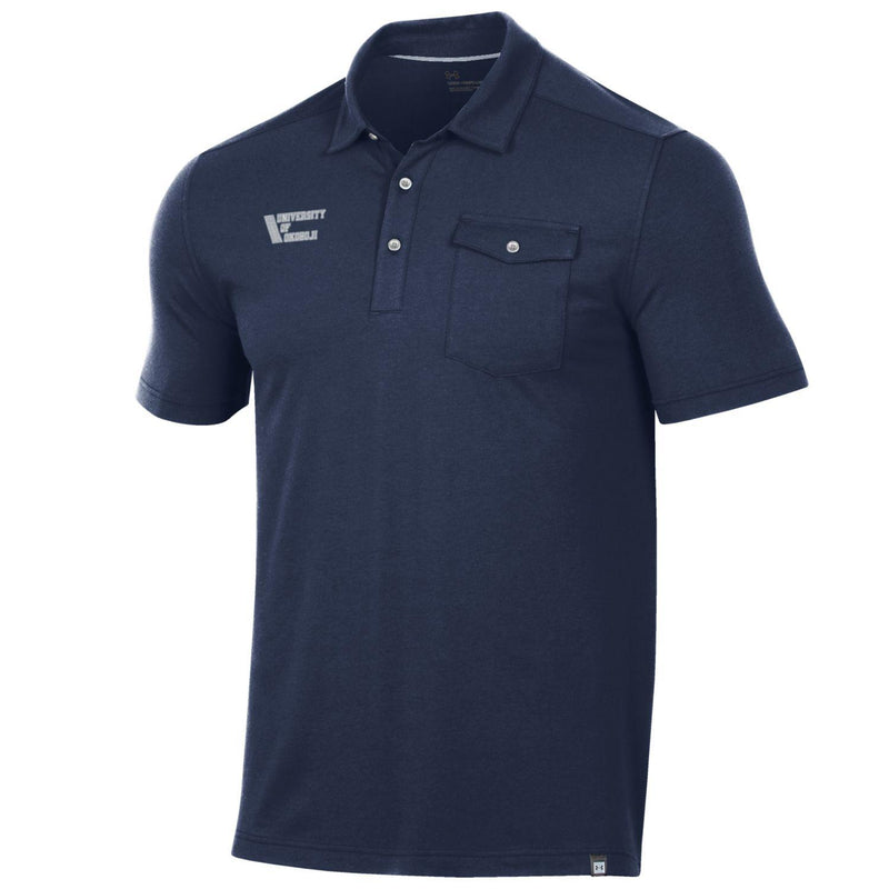 41 Okoboji Charged Cotton Pocket Polo - Midnight Navy