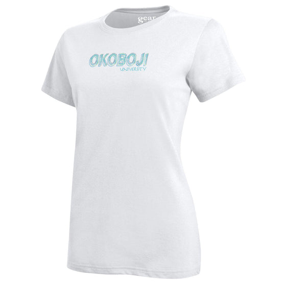 Women's Gear White Okoboji University Spirit Shirt