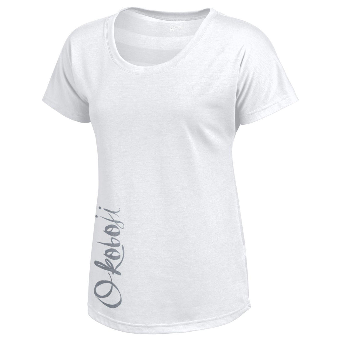 Women's White Okoboji Silver Ink Tee